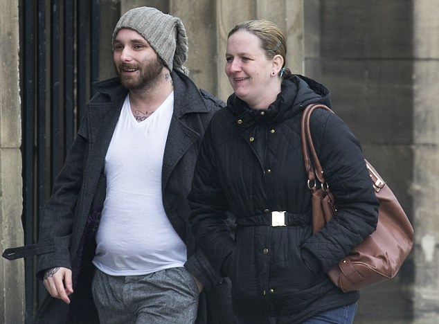 Perth Sheriff Court.....14.04.15  *****NO BYELINE PLEASE***** Christopher Yates and Vikki Gilmore arrive at court.....abortion con/fraud see story by Gordon Currie Picture by Graeme Hart. Copyright Perthshire Picture Agency Tel: 01738 623350  Mobile: 07990 594431